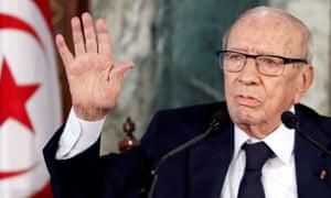 The Tunisian president Beji Caid Essebsi