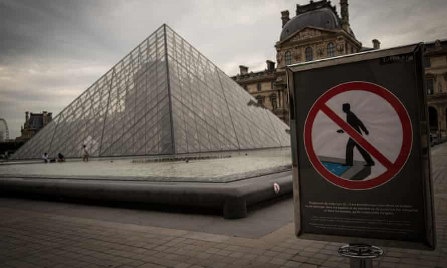 Drowned world … the Louvre, which has been closed to protect its collection from flooding.
