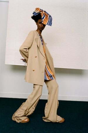 Jacket, £1,090, shirt, £370, trousers, £710, and hat, from a selection, by Mulberry (mulberry.com)  Shoes, £395, by Joseph (joseph-fashion.com)