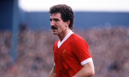 Graeme Souness pictured playing for Liverpool in 1982.