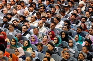 Kabul, AfghanistanDelegates listen at the opening session of the Loya Jirga (Grand Council) a national gathering of ethnic, religious and political leaders being held in Kabul to discuss possible peace talks with the Taliban
