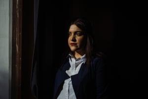 Rahiba Rahimi in her Kabul studio.