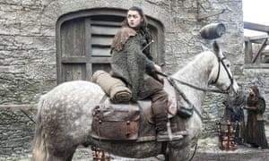 Maisie Williams as Arya Stark in Game of Thrones.