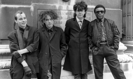 The Cure in 1984 (l-r): Porl Thompson, Robert Smith, Lol Tolhurst and Andy Anderson.