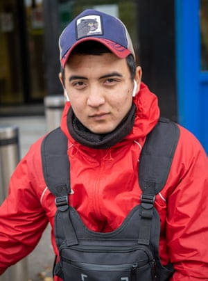 Shake is from Uzbekistan.  He has built his electric bicycle himself.  He works full time and is studying for a Bachelor of Business Administration in London.