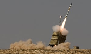 The Iron Dome missile defence system in use in 2011. It intercepted three out of four rockets fired on Eilat on 9 February.