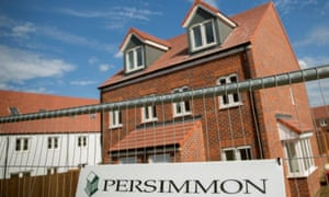 a persimmon homes sign and housing site