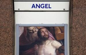 Angel tube station, London, 2014