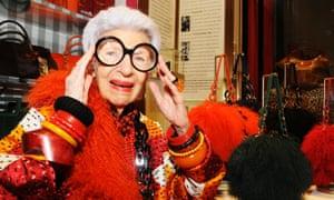 Fashion elder Iris Apfel.