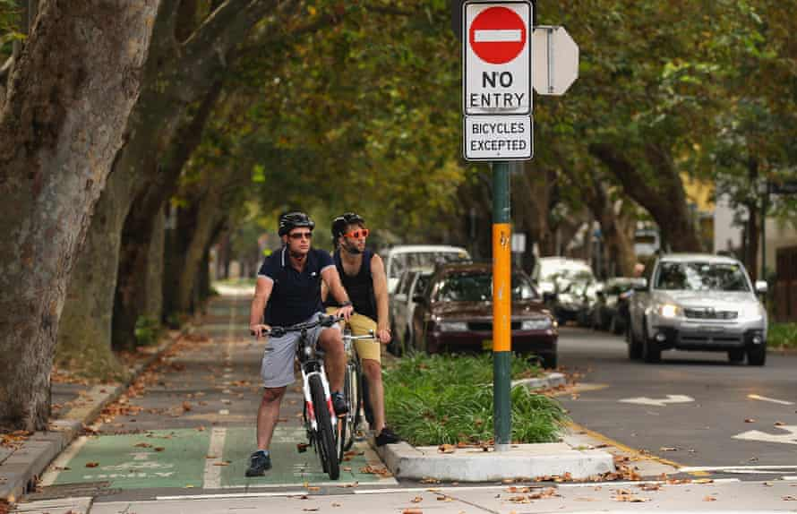 Cyclists in Sydney