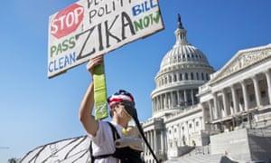 Zika virus protest