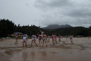 The West v the Rest play on Queenstown's infamous gravel football pitch