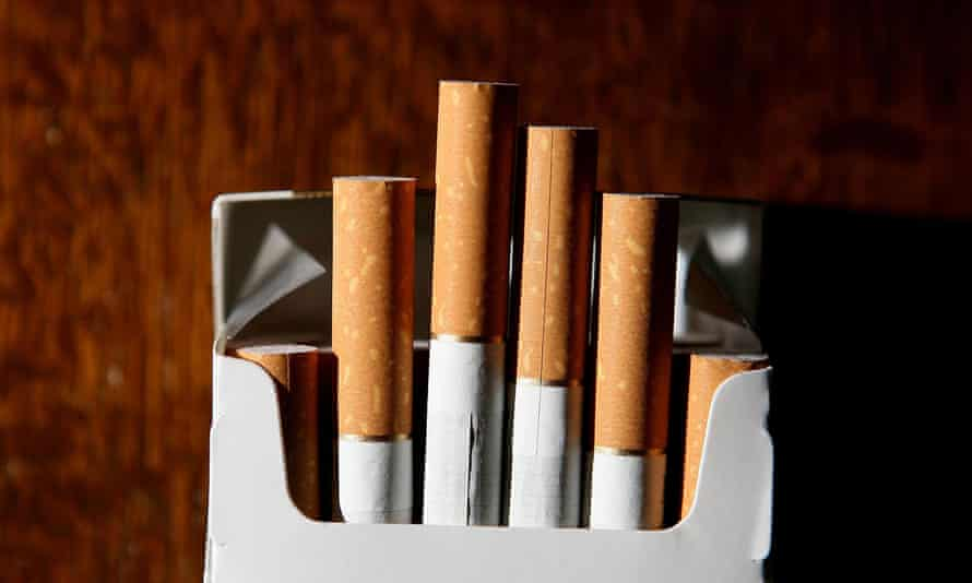 cigarettes in a packet