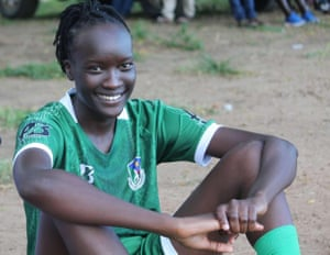 South Sudan captain Amy Lasu