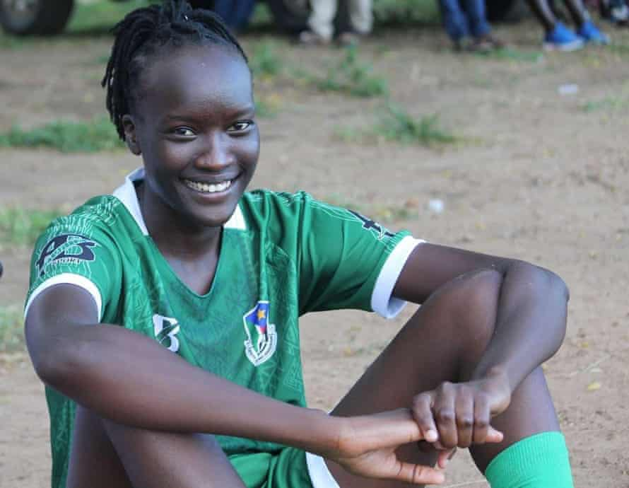 South Sudan captain Amy Lasu
