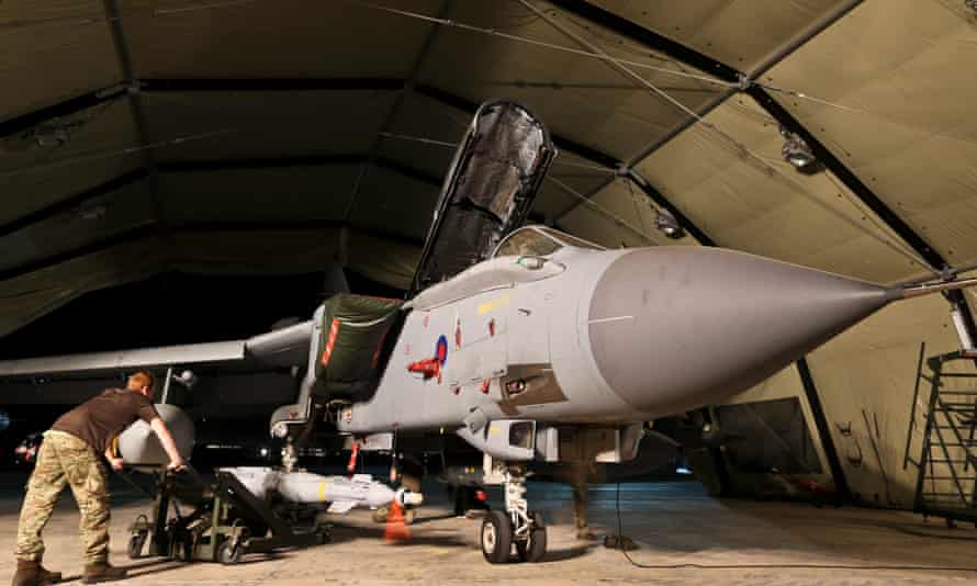RAF Tornado armed for mission over Iraq