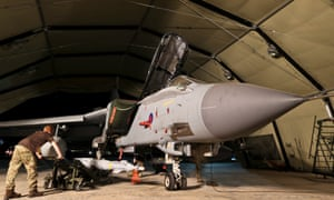 An RAF Tornado jet is armed with the Paveway IV laser guided bomb at RAF Akrotiri, Cyprus, in readiness for a flight over Iraq in September 2014