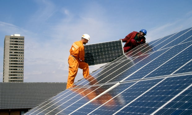fitting solar panels to a roof