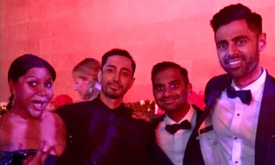 Taking over ... Mindy Kaling, Riz Ahmed, Aziz Ansari and Hasan Minhaj at the Met Gala.
