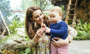 The Duchess of Cambridge and her son Prince Louis at the 2019 Chelsea flower show.