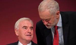 Jeremy Corbyn with John McDonnell at the 2017 Labour party conference.