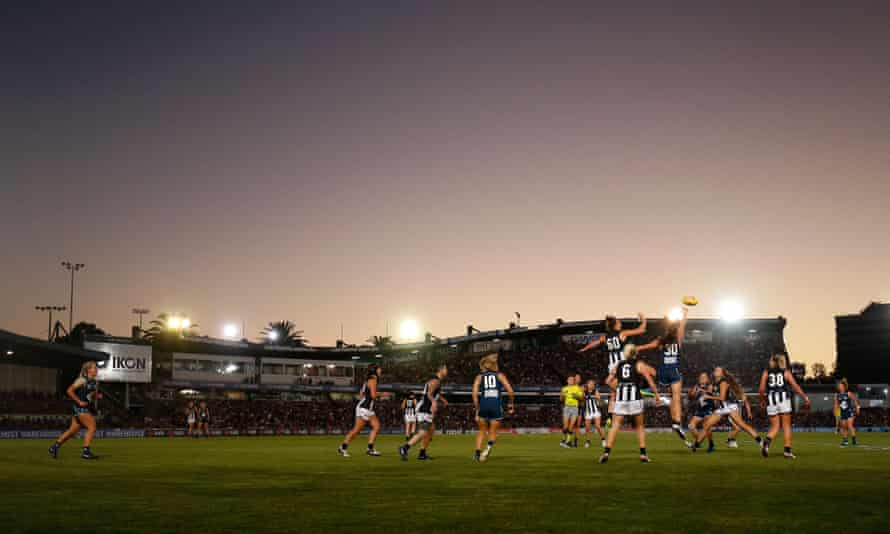 The opening game of the AFLW at Princes Park