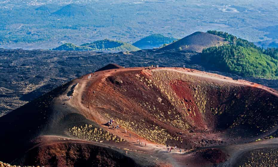 Mt Etna Crater, from Etna Sud.