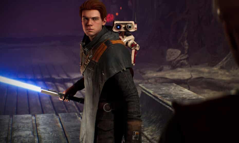 Cal Kestis and BD-1 in Star Wars Jedi: Fallen Order.