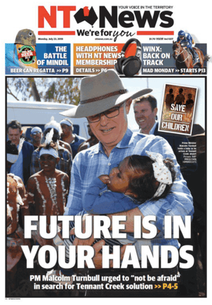 front-page NT News 23 July 2018