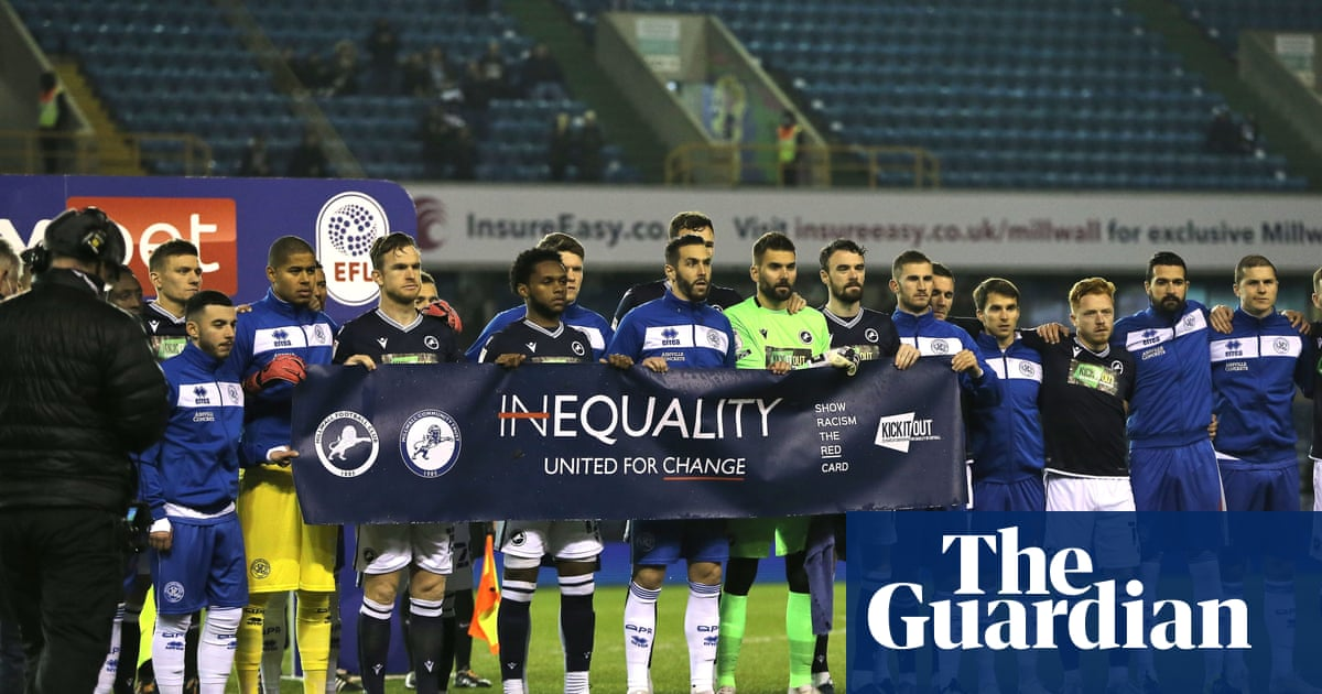 Millwall fans applaud anti-racism gesture before draw with QPR