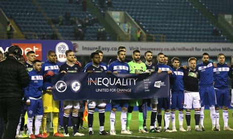 No boos as Millwall fans applaud anti-racism gesture before draw with QPR