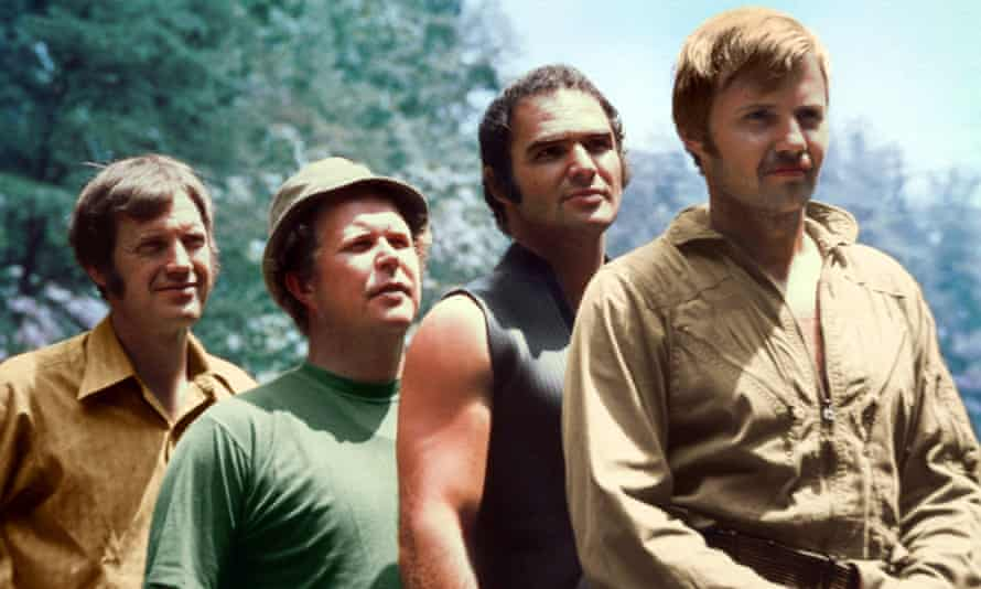 Ned Beatty (second from left) in the 1972 film Deliverance, with his co-stars Ronny Cox, Burt Reynolds and Jon Voight.