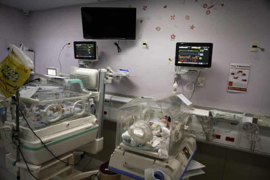 The neonatal intensive care unit in Al Makassed hospital in East Jerusalem.