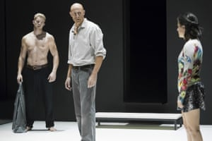 Russell Tovey, Mark Strong and Phoebe Fox in A View from the Bridge.