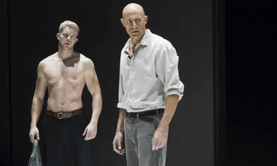 Russell Tovey on stage with Mark Strong in New York in A View From The Bridge.
