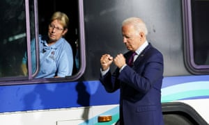 Biden at the La Crosse factory in Wisconsin on Tuesday.