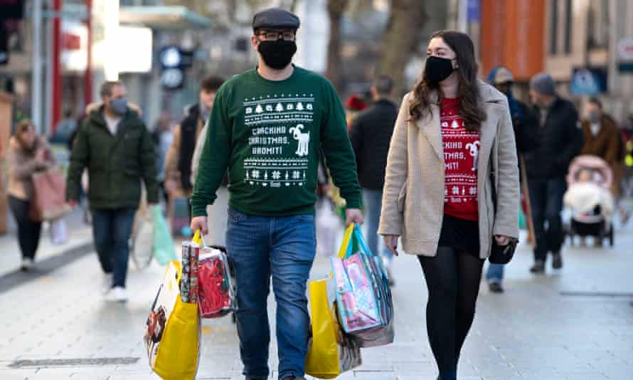 Shoppers on Queen Street in Cardiff on Black Friday.