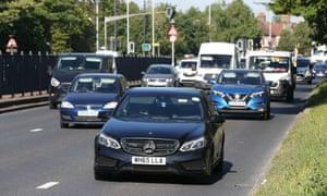 Motor traffic in London