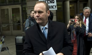 Rick Gates leaves federal court in Washington DC on December 17, 2019.