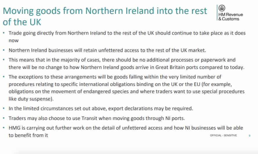 HMRC finally reveals plans for Brexit checks on goods going to Northern Ireland