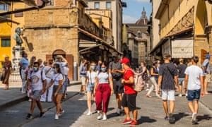 Visitors return in Florence following the easing of coronavirus travel restrictions.