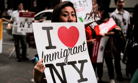 Supporters of the Deferred Action for Childhood Arrivals program protest in New York.