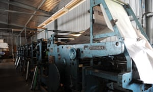 The Watchman's presses before printing was outsourced in 2011