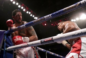 Dominic Breazeale is on the ropes.