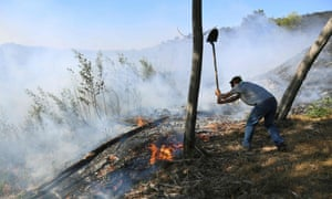 Fighting fires in south-eastern France