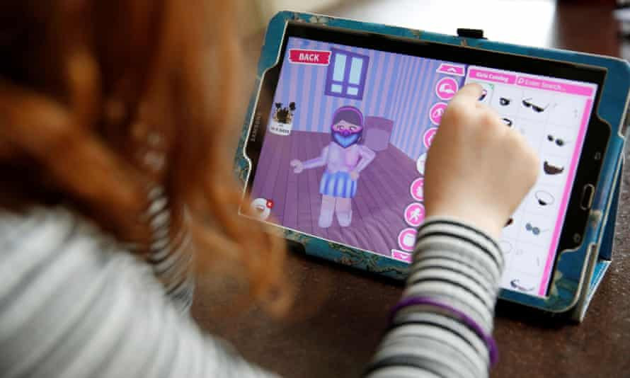 Gaming on Roblox during lockdown … but it's the lure of in-app purchases that needs controlling.
