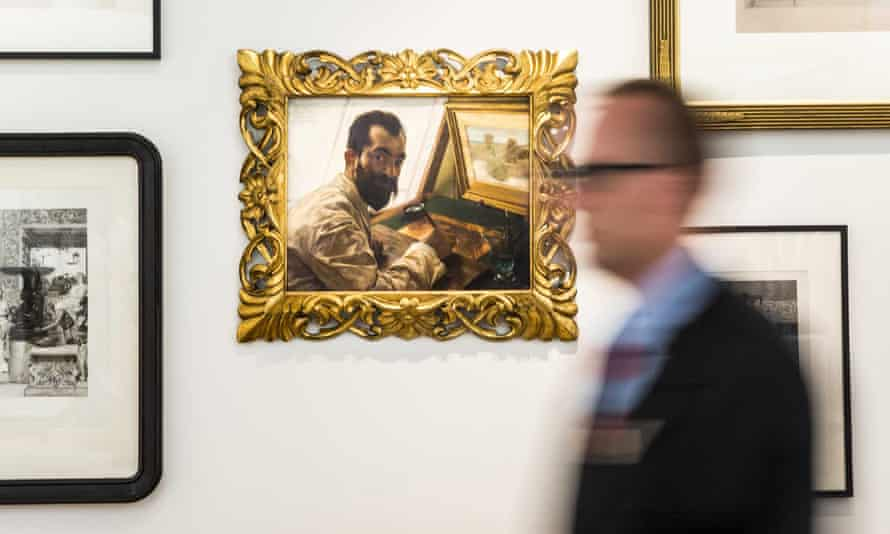 Alma-Tadema's painting of his engraver Leopold Löwenstam at the Fries Museum