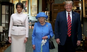Donald and Melania Trump with the Queen during the US president's 2018 visit to the UK.