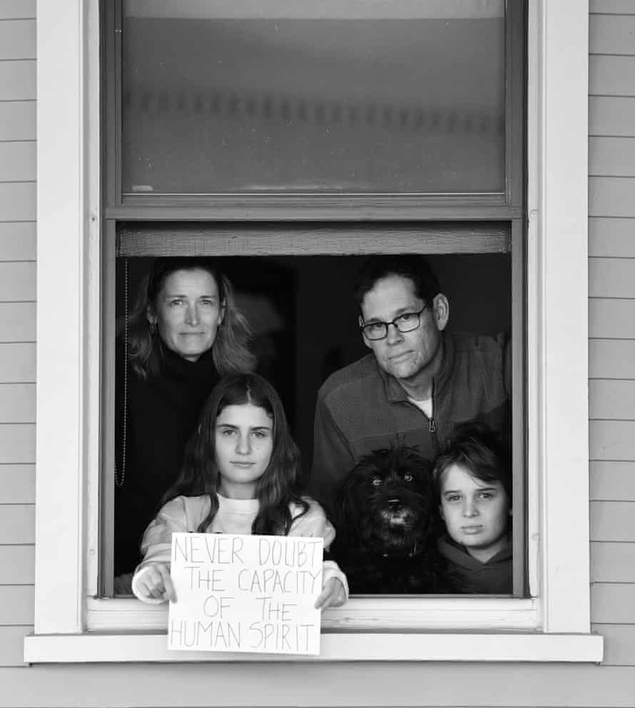 Elizabeth Parker, Tom Parker and children Clarissa and Nate.
