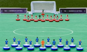 The Subbuteo set includes 22 outfield players and six substitutes, each hand-moulded and painted with their own characteristics and detailing.